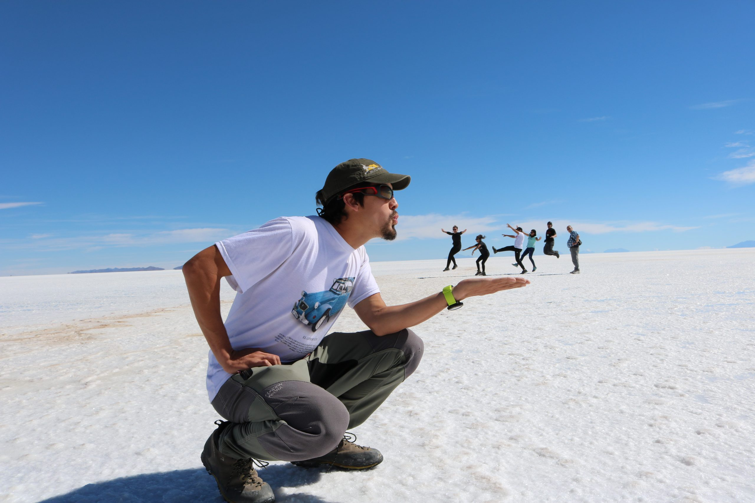 Uyuni Salt Flat perspective or fun photo